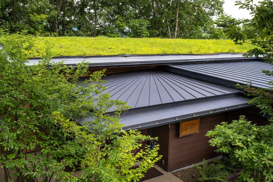 自然の力を利用したエコ「草屋根」